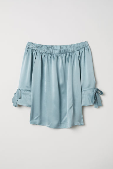 Silk blouse - Light turquoise - Ladies | H&M