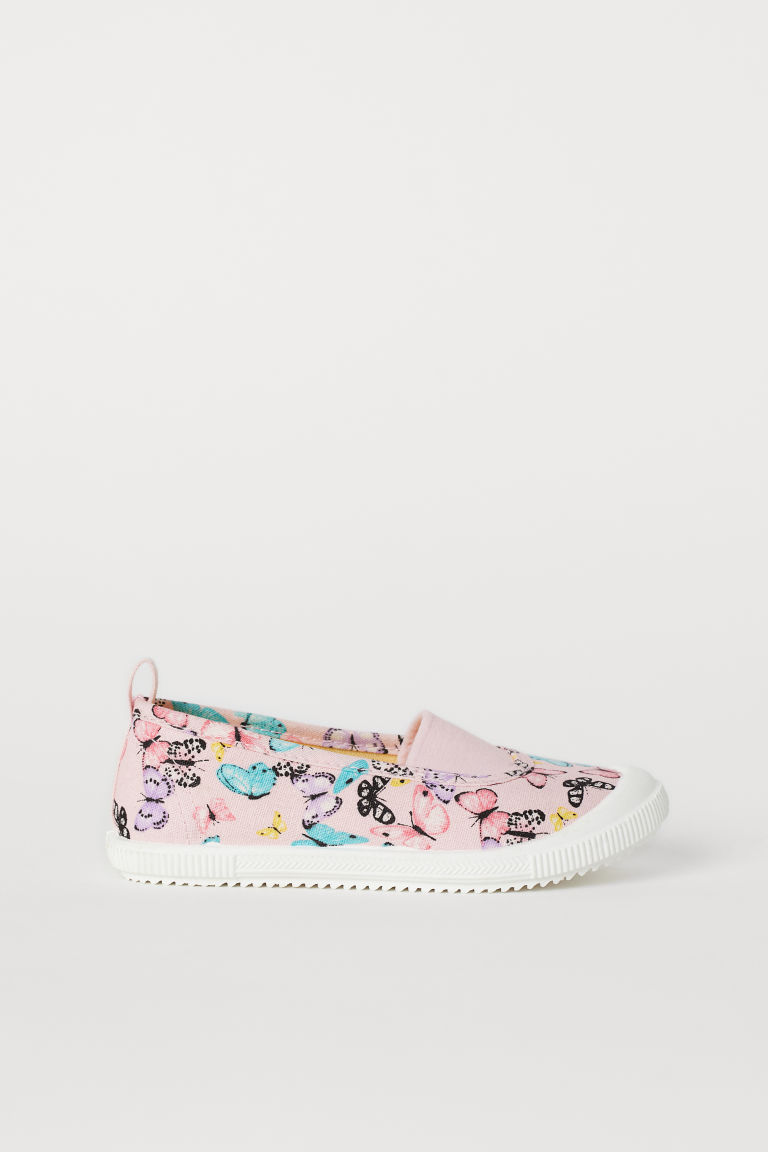 Patterned trainers - Light pink/Butterflies - Kids | H&M CN