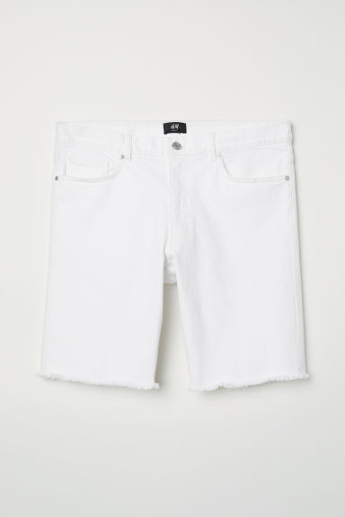 Jeansshort - Slim fit - Wit -  | H&M BE