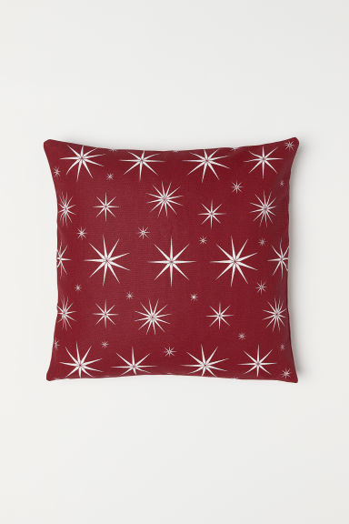 Cotton cushion cover - Dark red/Star pattern - Home All | H&M CN