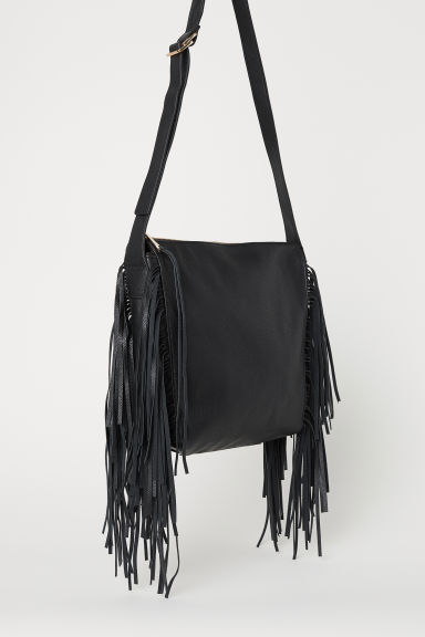 Hobo bag with fringing - Black - Ladies | H&M