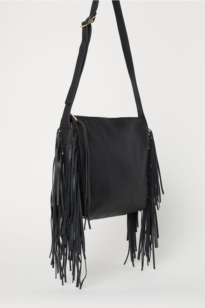 176b5964bae9 Bag with Fringe - Black - Ladies