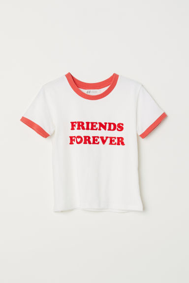 Camiseta con estampado - Blanco natural/Friends Forever - NIÑOS | H&M ES