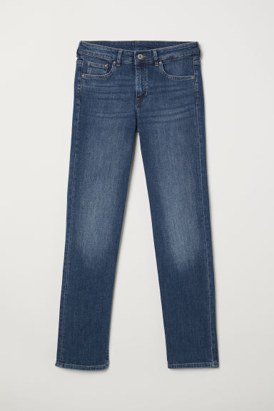 Straight Regular Jeans - Tmavý denim blue -  | H&M CZ