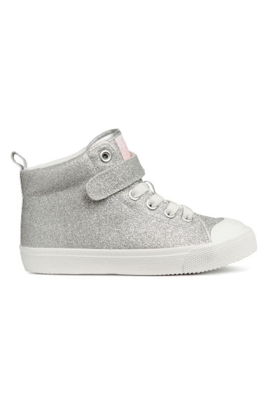 Hi-top trainers - Silver-coloured/Glittery -  | H&M