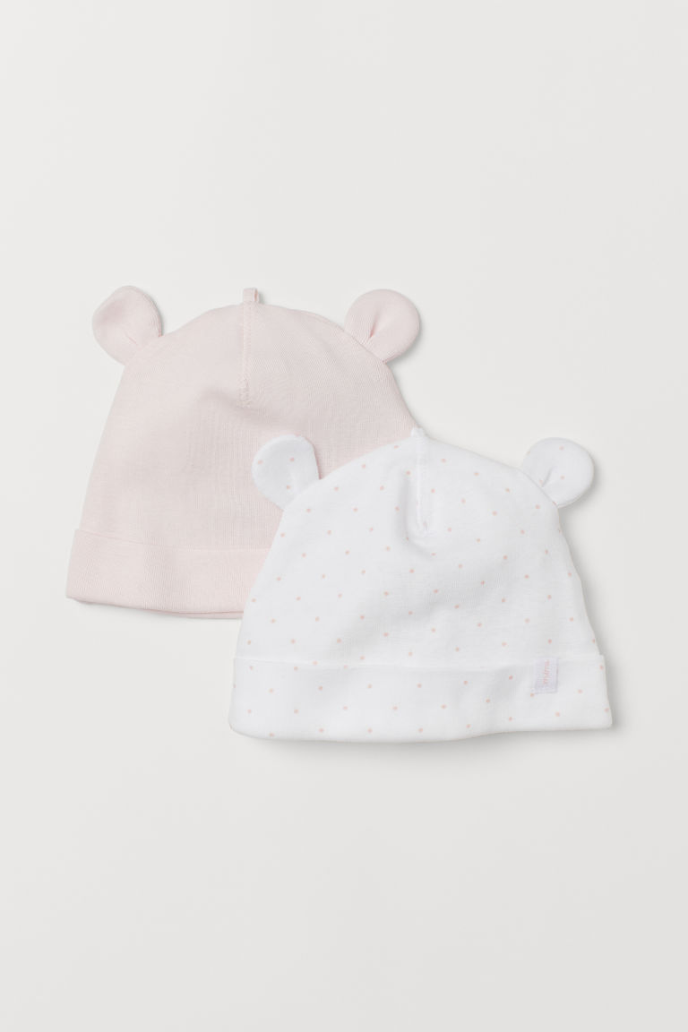 2-pack hats - Pink/Spotted - Kids | H&M