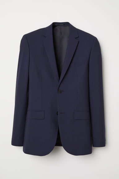Wool jacket Slim Fit - Navy blue - Men | H&M