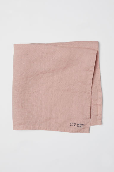 Serviette de table en lin lavé - Vieux rose - Home All | H&M FR