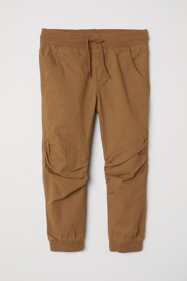 Pull-on twill trousers - Camel - Kids | H&M