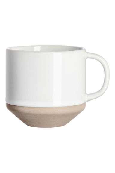 Tazza in gres - Bianco - HOME | H&M IT