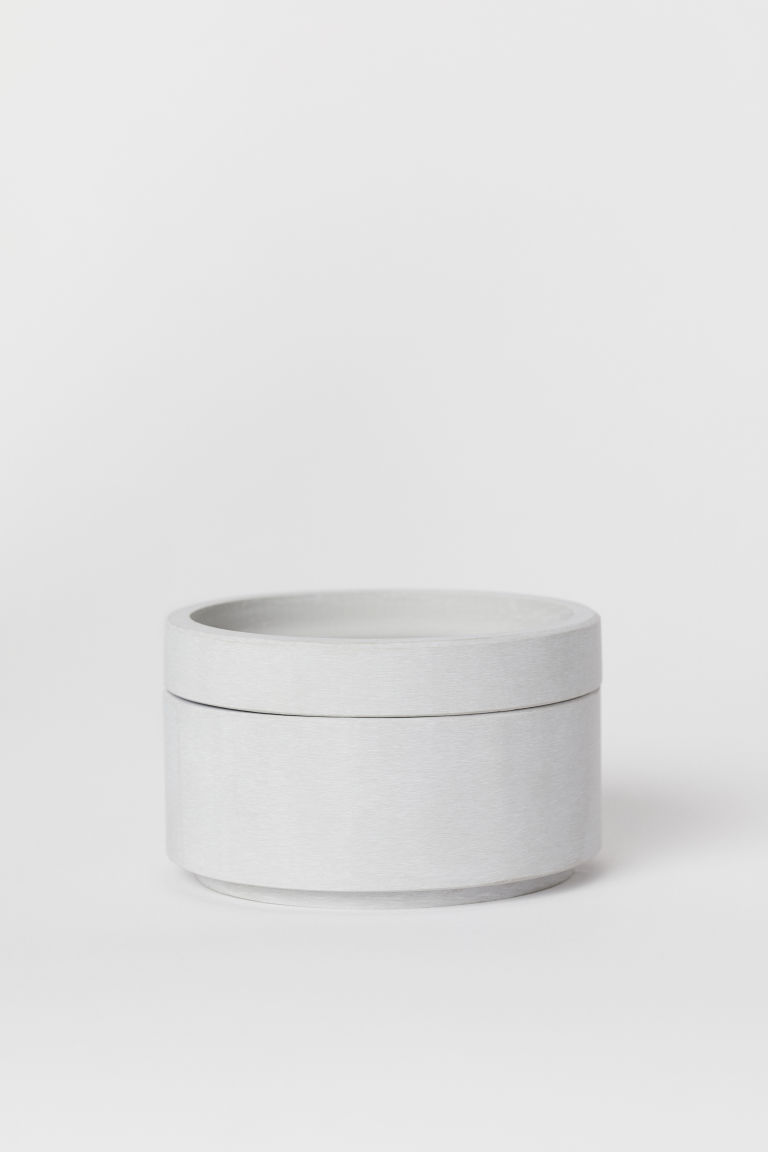 Pot with a lid - Light grey - Home All | H&M CN