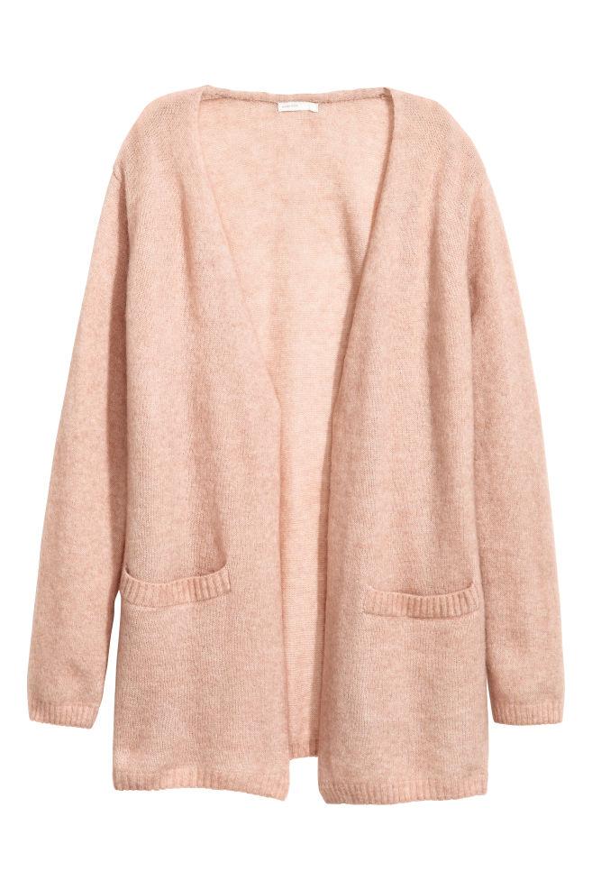 9d07f17f2cfa9 Mohair-blend Cardigan - Powder pink - Ladies