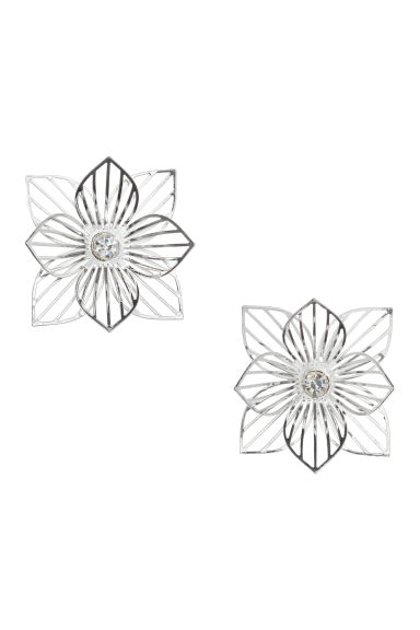 Earrings - Silver-coloured - Ladies | H&M GB