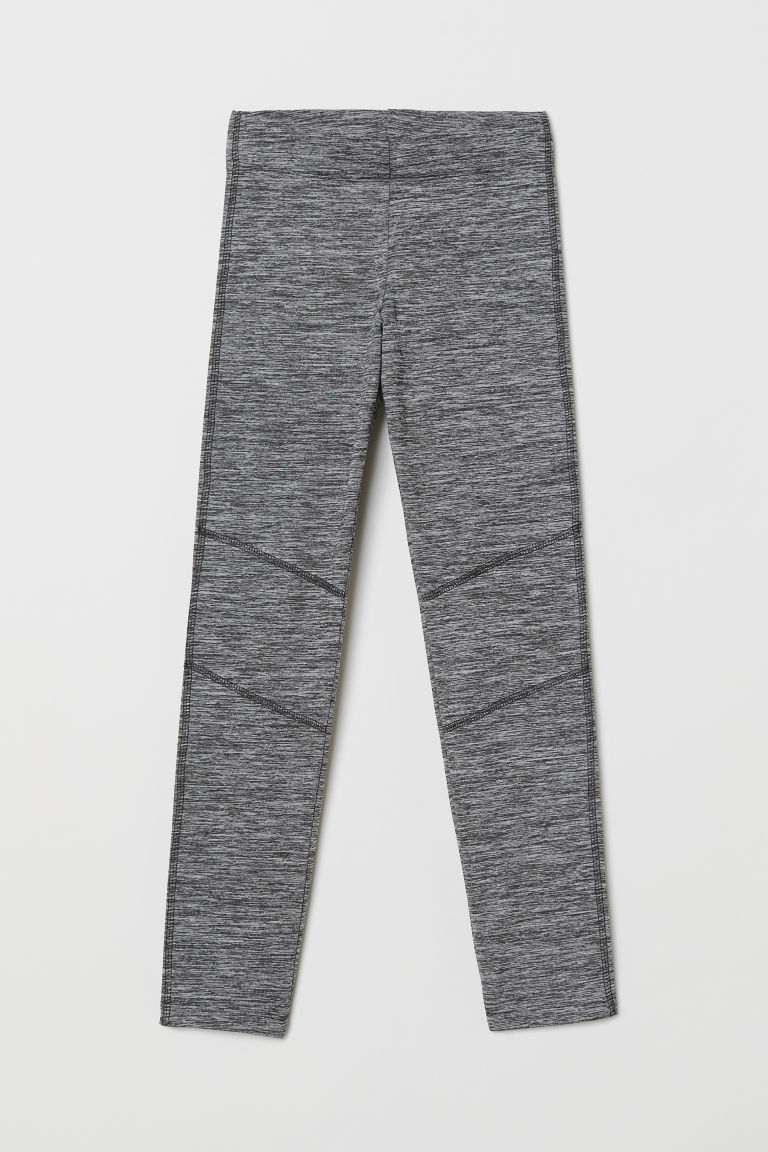 Leggings - Grey/Black marl - Kids | H&M
