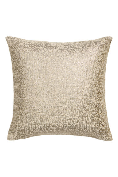 Jacquard-weave cushion cover - Natural white/Gold-coloured - Home All | H&M IE