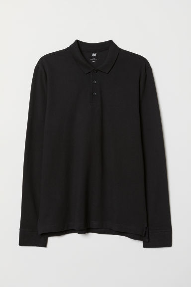 Polo Regular Fit - Negro - HOMBRE | H&M ES