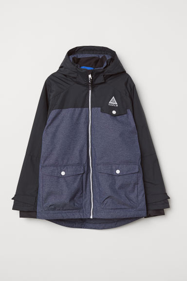 Padded ski jacket - Dark blue/Black - Kids | H&M CN