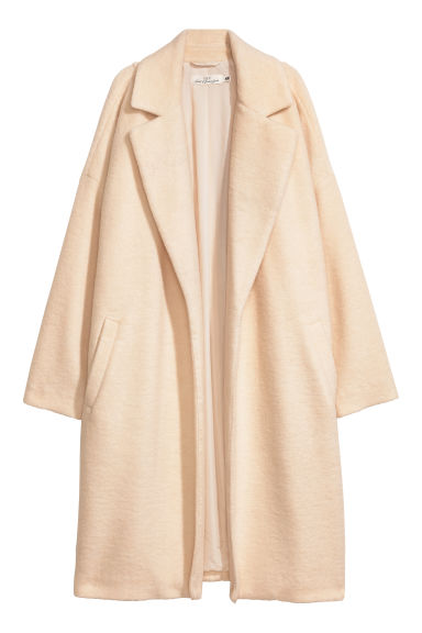 Wool-blend coat - White -  | H&M
