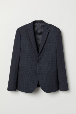Blazer à carreaux Slim fit beb7a534ccc