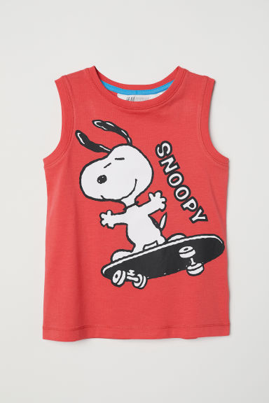 Printed vest top - Red/Snoopy - Kids | H&M