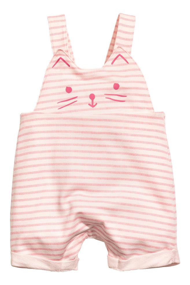 b2d9c1270 Cotton dungarees - Light pink Striped - Kids