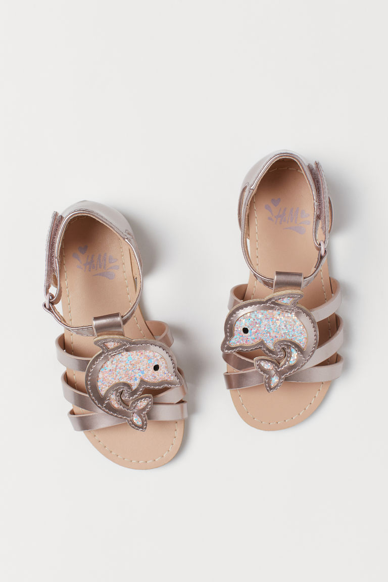 Sandals with an appliqué - Rose gold-coloured/Dolphin - Kids | H&M