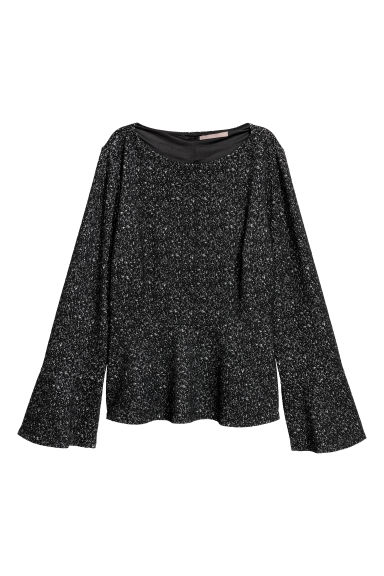 H&M+ Textured top - Black -  | H&M GB
