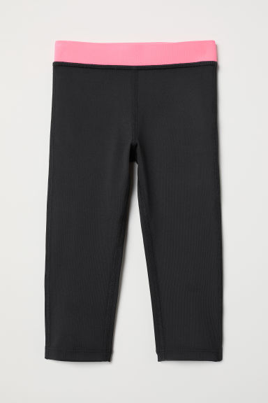 3/4-length sports tights - Black - Kids | H&M