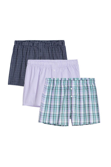 3-pack woven boxer shorts - Heather/Patterned -  | H&M CN