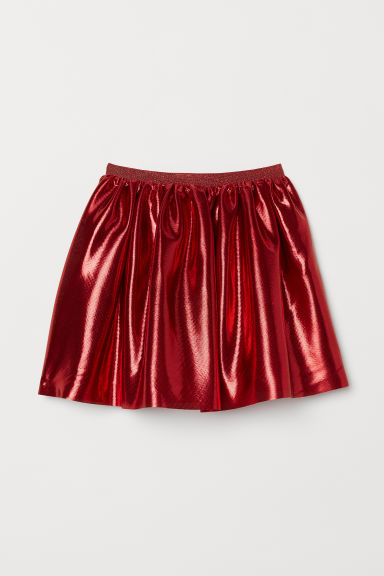 Shimmering Metallic Skirt - Metallic red - Kids | H&M US