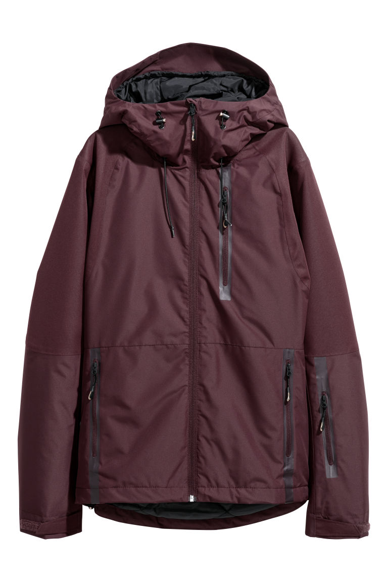 Ski jacket - Burgundy - Ladies | H&M GB