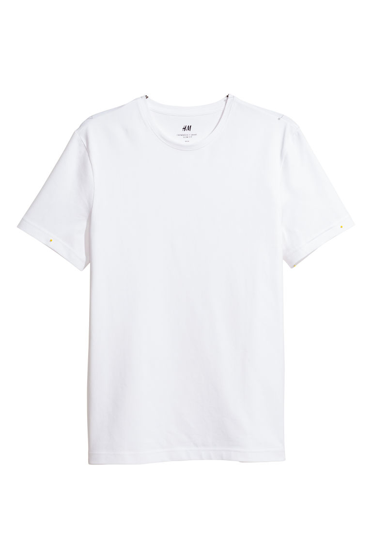 T-shirt - Slim fit - Wit - HEREN | H&M BE
