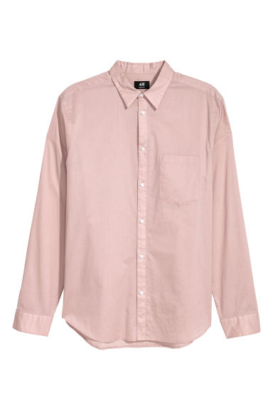 Cotton shirt Regular fit - Old rose -  | H&M