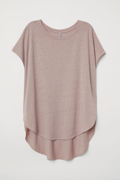 Tricot top - Lichttaupe -  | H&M BE