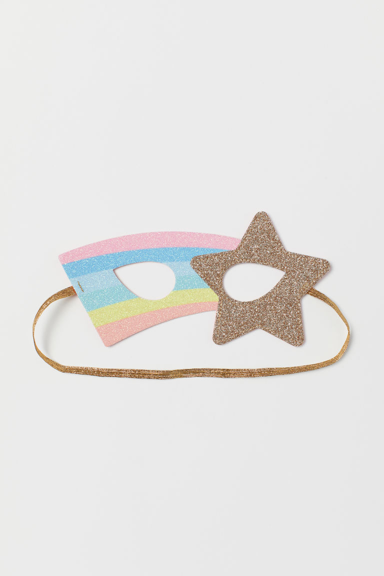 Fancy dress mask - Gold-coloured/Star - Kids | H&M CN