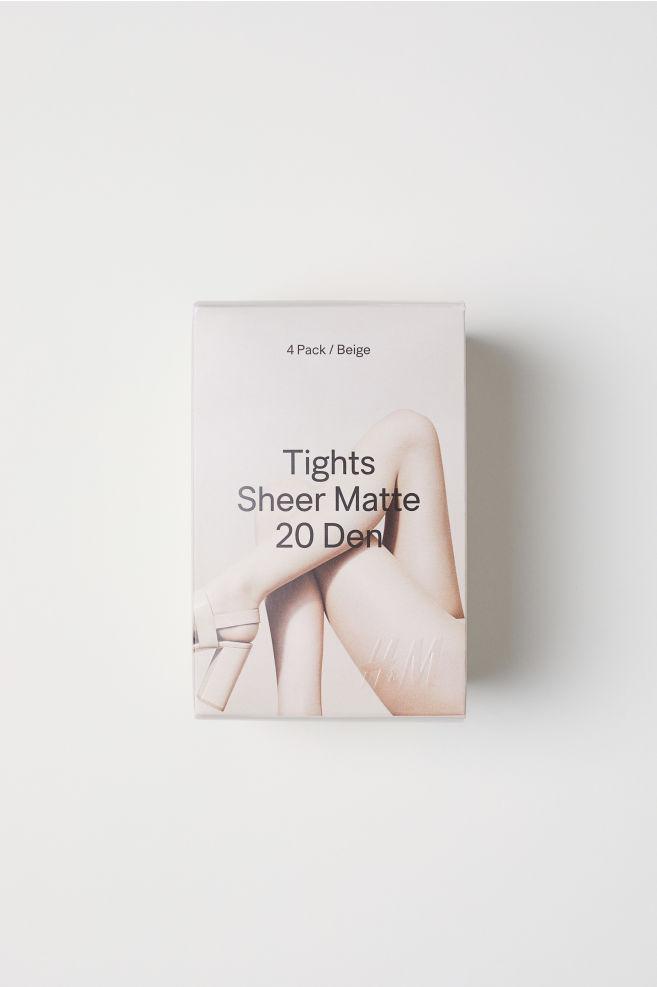 d2bbd2eb69aeb 4-pack Tights 20 Denier - Light amber - Ladies | H&M US 1. Buy 2 ...