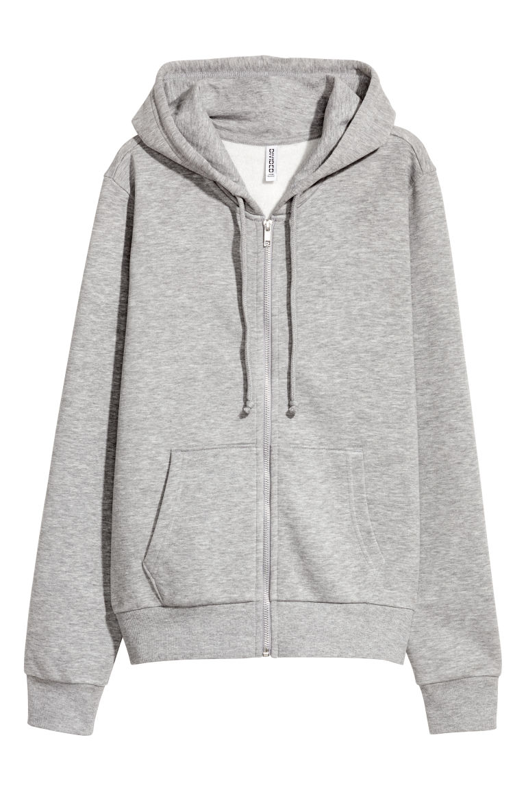 Hooded jacket - Grey marl - Ladies | H&M