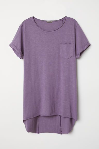Long T-shirt - Purple - Men | H&M