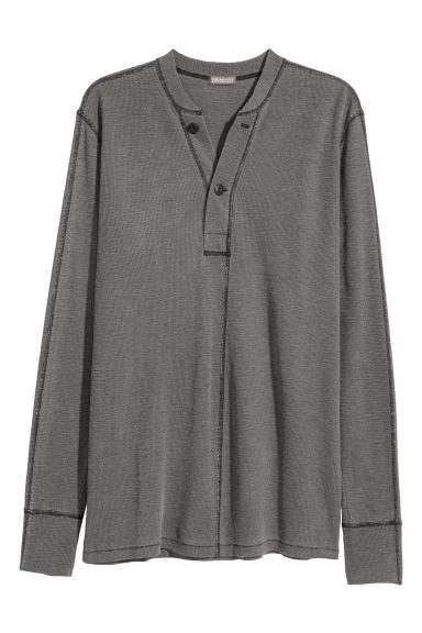 Henley top - Dark grey -  | H&M