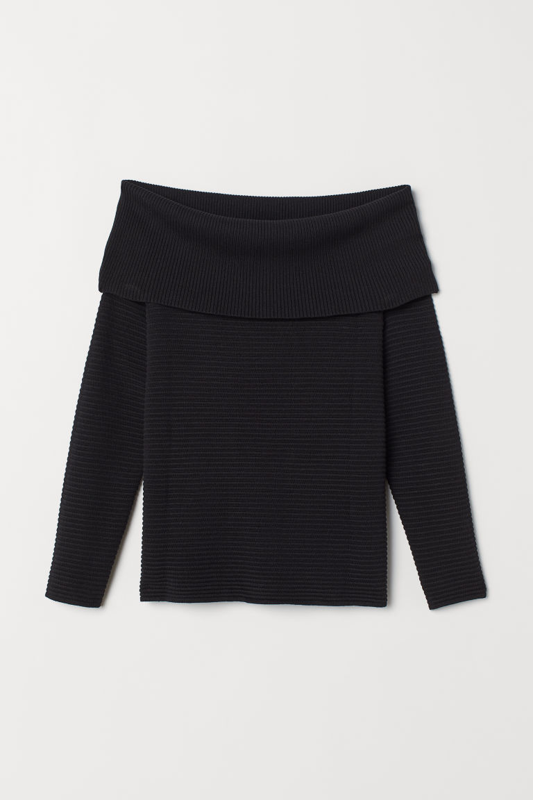 Off shoulder-tröja - Svart - DAM | H&M SE