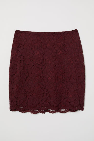 Lace skirt - Burgundy - Ladies | H&M