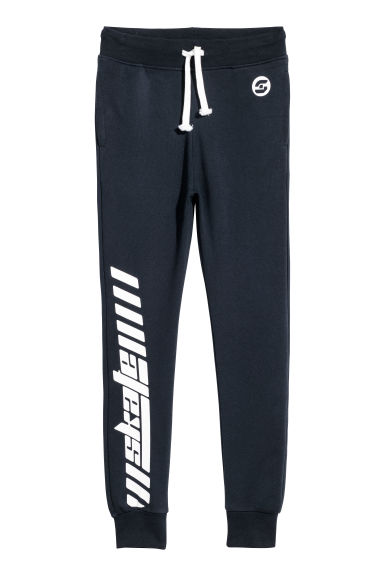 Printed joggers - Dark blue - Kids | H&M CN