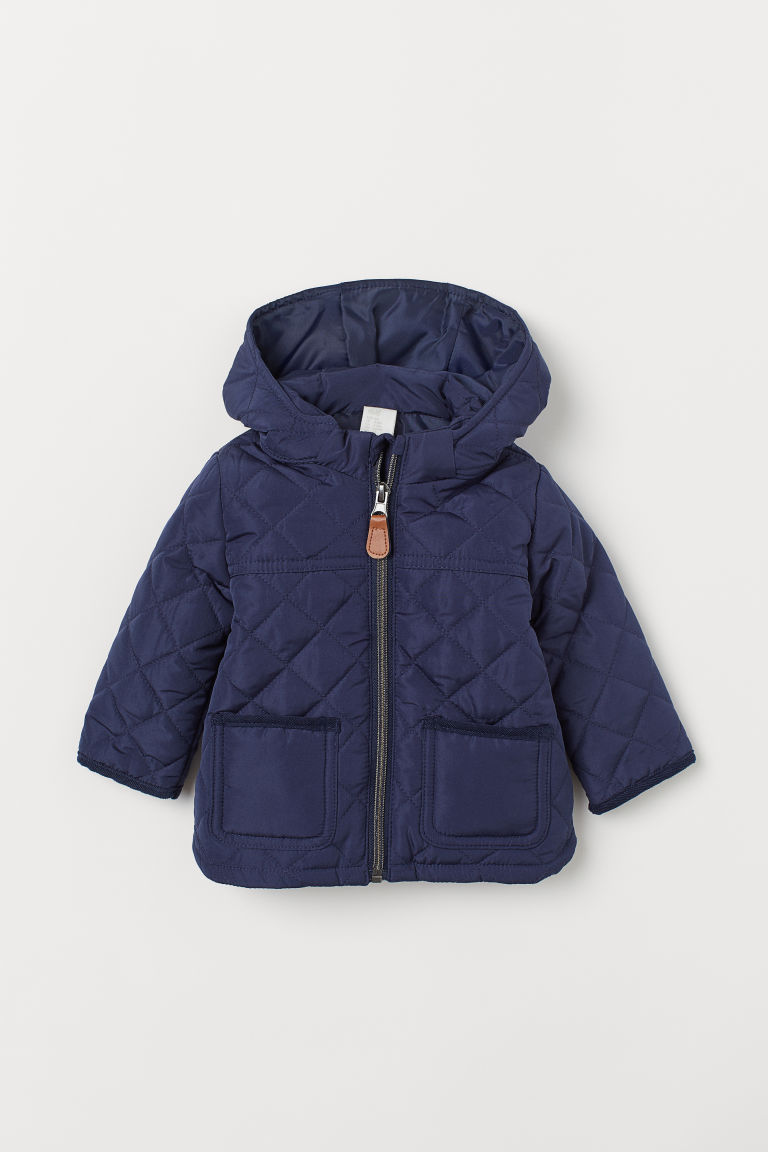 Quilted jacket - Dark blue - Kids | H&M IN