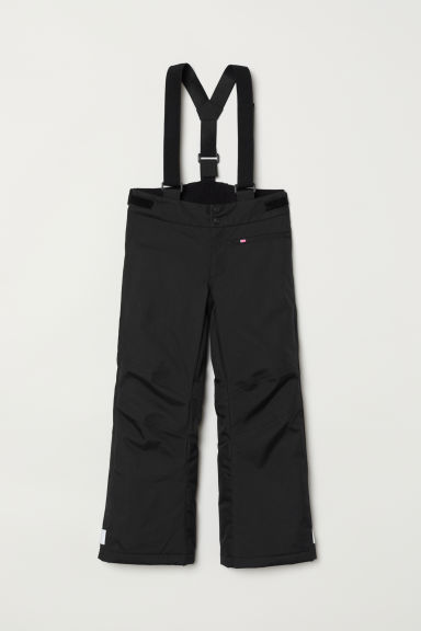 Shell Pants with Suspenders - Black - Kids | H&M US