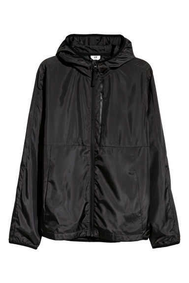 Hooded sports jacket - Black -  | H&M CN