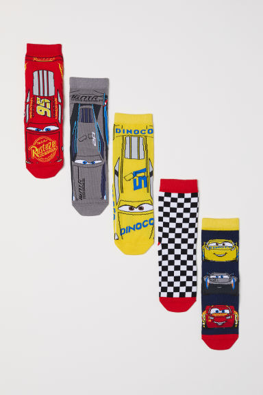 5-pack socks - Red/Cars - Kids | H&M