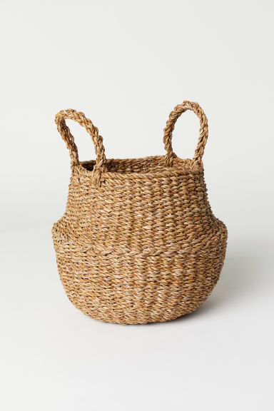 Collapsible storage basket - Natural - Home All | H&M CN