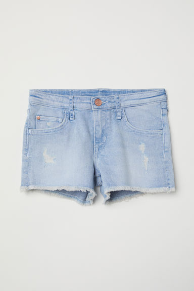 Denim shorts - Light denim blue - Kids | H&M CN
