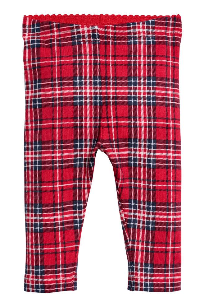 af63cebaafebc Patterned leggings - Red/Checked - Kids   H&M ...