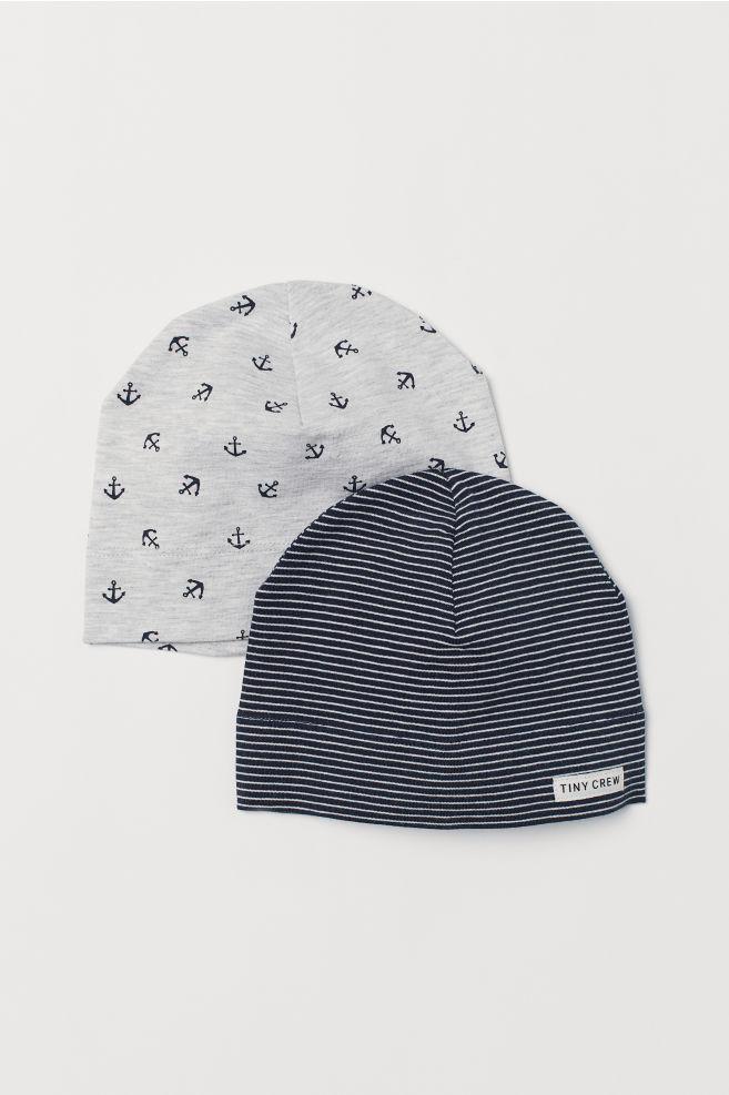 8feeef34c7d 2-pack jersey hats - Light grey marl Anchors - Kids